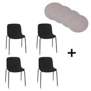 Magis - Magis Troy Gartenstuhl 4er Set mit Sitzauflag