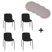 Magis - Magis Troy Gartenstuhl 4er Set + Sitzauflage