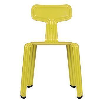 Moormann - Moormann Pressed Chair Stuhl - Scharfer Senf/pulverbeschichtet matt/Sonderedition von S.Schwenger