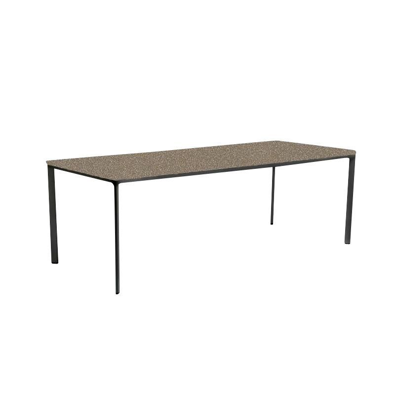 Kettal   Park Life Dining Table   Aluminium   132 Sanded Brown/frame  Manganese Black