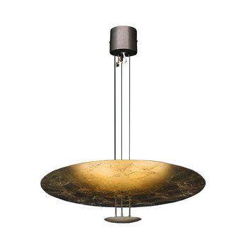 Catellani & Smith - Macchina Della Luce B Pendelleuchte - gold/Messing Stäbe/Kabel 145cm zuschneidbar/Scheiben Ø80/17cm