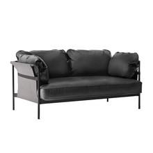 HAY - Can 2-zits sofa onderstel staal zwart leer