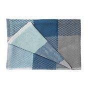 Muuto - Loom throw Baumwolldecke  - blau/100% Baumwolle/180x130cm/handgewebt