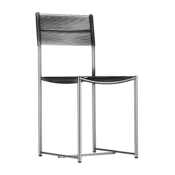 Alias - 101 Spaghetti Chair Stuhl - schwarz/Gestell chrom/stahl