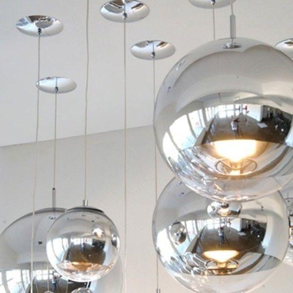 Mirror Ball Pendant Suspension Lamp Chrome Tom Dixon