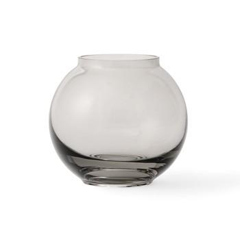 Lyngby Porcelæn - Form 70/2 Vase - rauchgrau/mundgeblasenes Glas/H 10cm