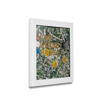 Art Vinyl - Play & Display Flip Rahmen weiß - weiß/38 x 38 x 2,5 cm