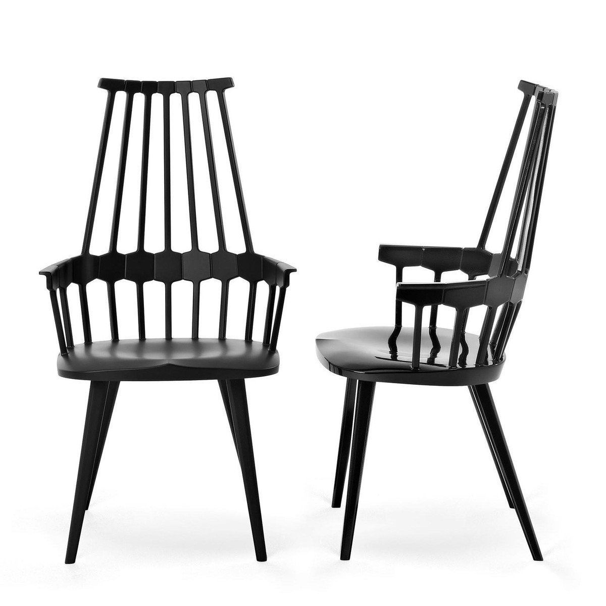 Set promo Chaise back Chair peau Kartell