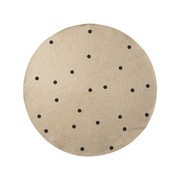 ferm LIVING - Jute Black Dots Carpet small