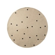 ferm LIVING - Jute Black Dots - Tapis