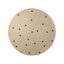 ferm LIVING - Jute Black Dots Teppich