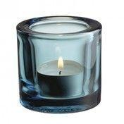 iittala - Kivi Teelichthalter 60mm - seeblau/transparent