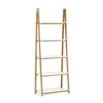 Normann Copenhagen - One Step Up Bookcase - ash tree/shelves white