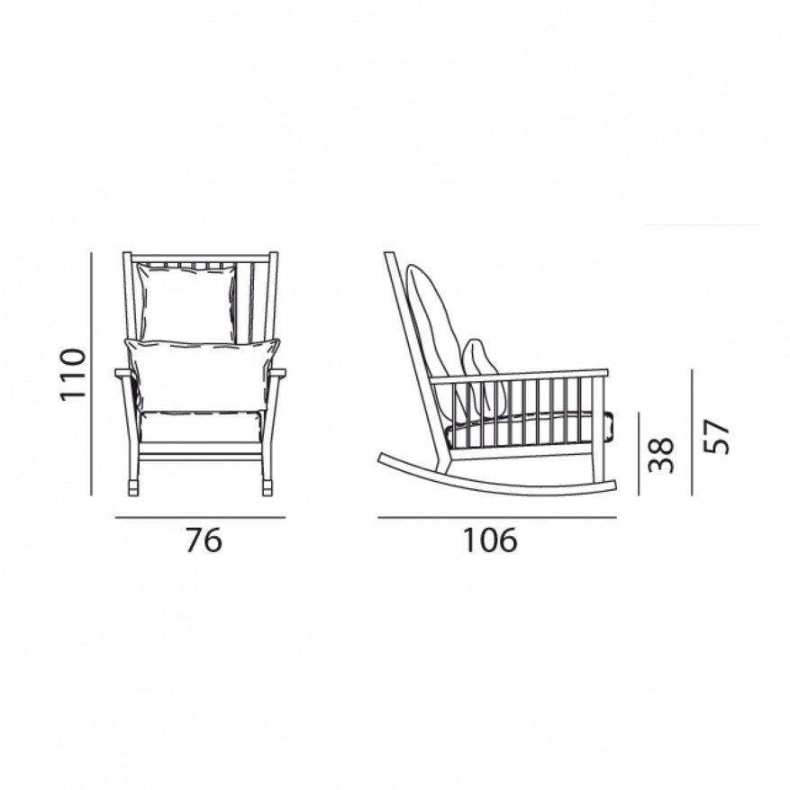 Gervasoni gray 09 schommelstoel ambientedirect - Gervasoni schaukelstuhl ...