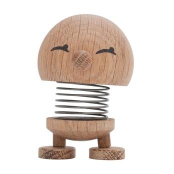 Hoptimist - Hoptimist Baby Woody Bimble Push Puppet - oak/H6.5cm/Ø5.0cm/with spring mechanism