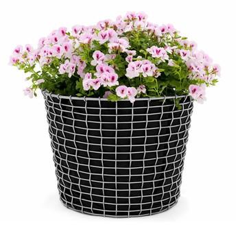 Korbo - Aktionsset Korbo Bin 24 + 3 Plantingbags gratis - edelstahl/schwarz/H 28cm, Ø 38cm/Bin 24 + 3x Plantingbags