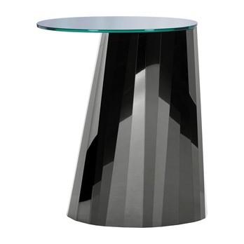 ClassiCon - Pli Beistelltisch hoch - onyx-schwarz/Platte schwarz glänzend/H 65cm/Lieferbar ab April 2017
