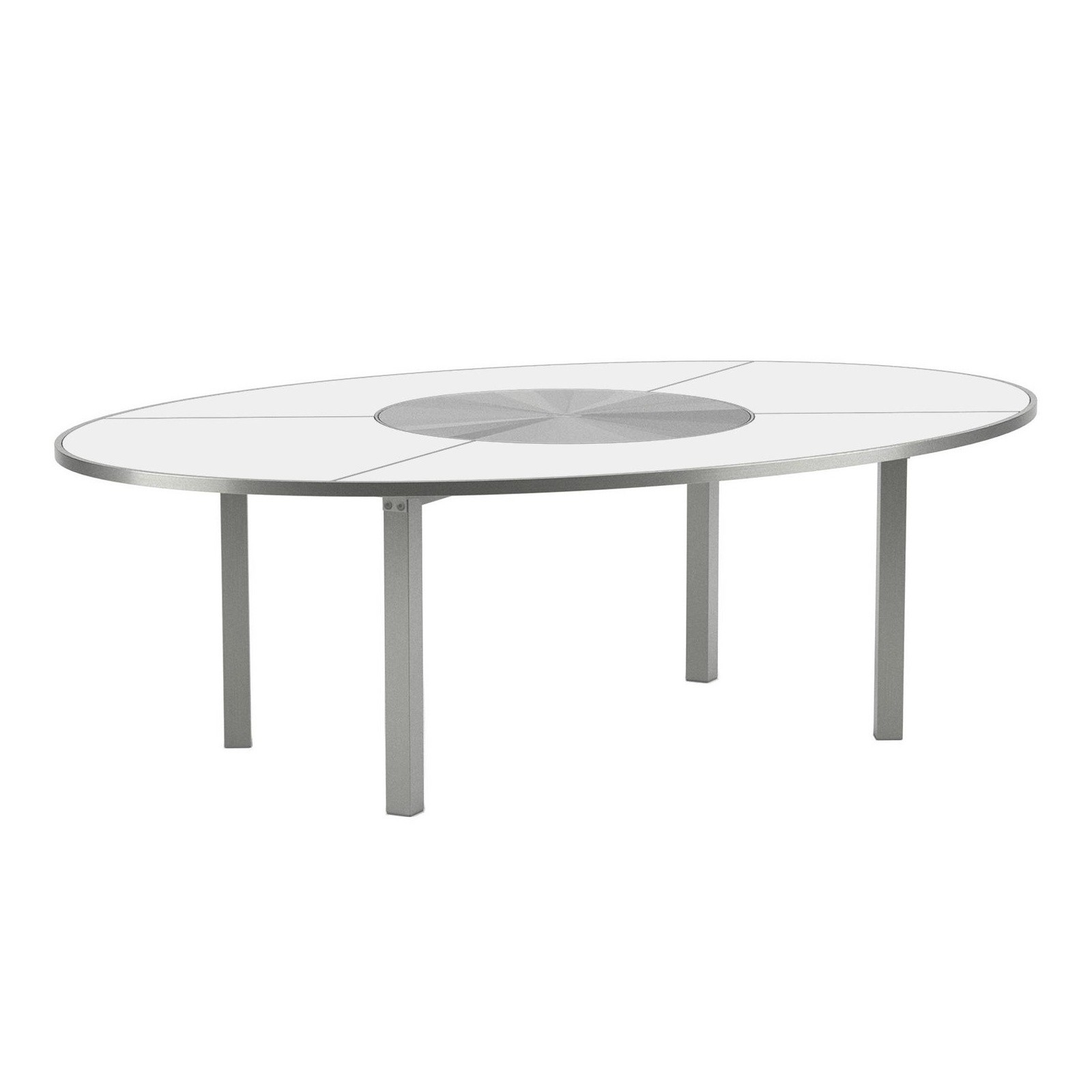 Royal Botania O-Zon - Table de jardin ovale Ø240 acier | AmbienteDirect