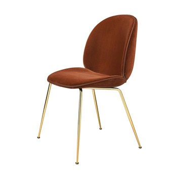 Gubi - Beetle Chair Samtpolster und Gestell Messing