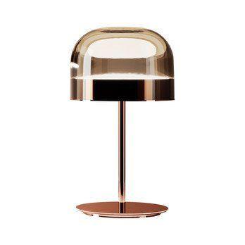 Fontana Arte - Equatore LED Tischleuchte - kupfer/grau/glänzend/H:60cm x Ø35.8cm/2700K/1800lm CRI>90