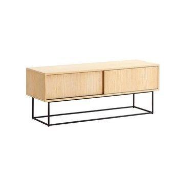 Woud - Virka Low Sideboard - eiche/Gestell Metall