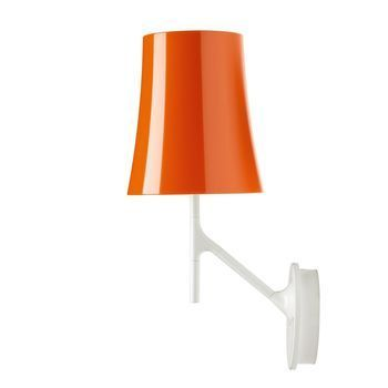Foscarini - Birdie Wandleuchte - orange/lackiert/LxBxH 24x17x42cm