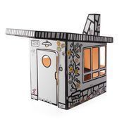Magis - Me Too Villa Julia Kids Play house - white/black/with labels for design/120x165x135cm