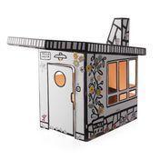 Magis - Me Too Villa Julia Kinder-Spielhaus - weiß/schwarz/mit Aufklebern zur Eigengestaltung/120x165x135cm