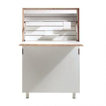 müller möbelwerkstätten - Flatmate Wandsekretär - weiß/mit Birkenkante