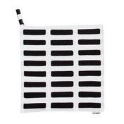 Artek - Artek Siena Topflappen 2er-Set - weiß/schwarz/21,5x21,5cm