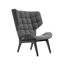 NORR 11 - Mammoth Fluffy Lounge Chair Frame Black