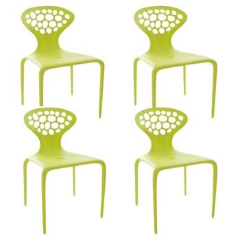 Moroso - Supernatural Chair Set of 4 - fluo green/matt