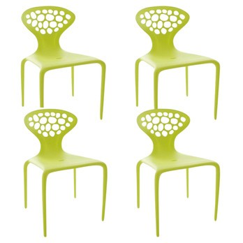 Moroso - Supernatural Chair Set of 4 - fluo green/matt