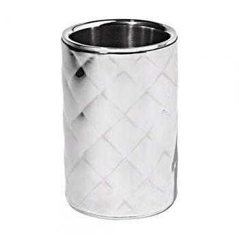 Alessi - Mateglacé Vakuum Flaschenkühler - edelstahl/glänzend/H 18cm, Ø 12,5cm, 130cl
