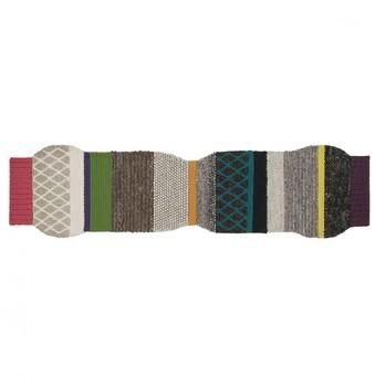GAN - Mangas Largas ML1 Teppich - dunkelrot/grün/dunkelgrau/400 x 100cm