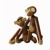 Kay Bojesen Denmark - Kay Bojesen Wooden Figurine Monkey Small - teakwood/limba/matt