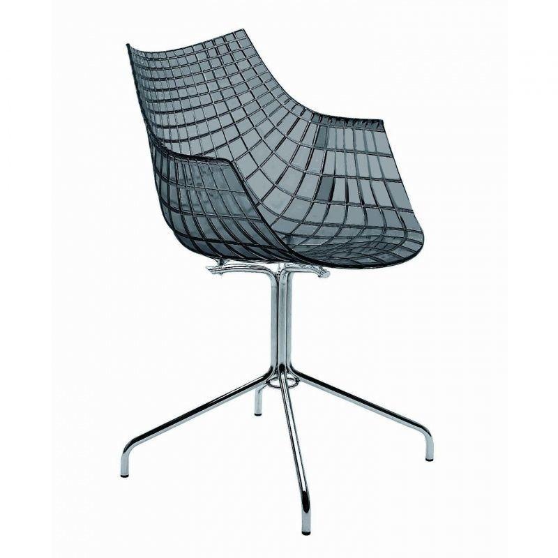 Drehstuhl ohne rollen  Meridiana Armlehnstuhl mit Kreuzgestell | Driade | AmbienteDirect.com