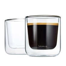Blomus - Nero Thermo Insulated Coffee Glass Set of 2