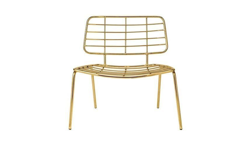 Awesome Bloomingville   Mesh Lounge Chair   Gold/70x70x60cm/seat Height: 38cm ...