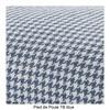 Kartell - Largo 3-Sitzer Sofa - blau/Stoff Pied de Poule TB blau/Gestell Stahl schwarz lackiert/301x69x96cm/Lieferung ohne Kissen
