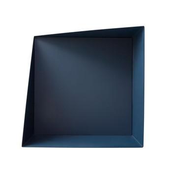 PLEASE WAIT to be SEATED - Wall Box Regalsystem - marineblau/Stahl, pulverbeschichtet/Rückwand marineblau/Aufhängung inklusvie
