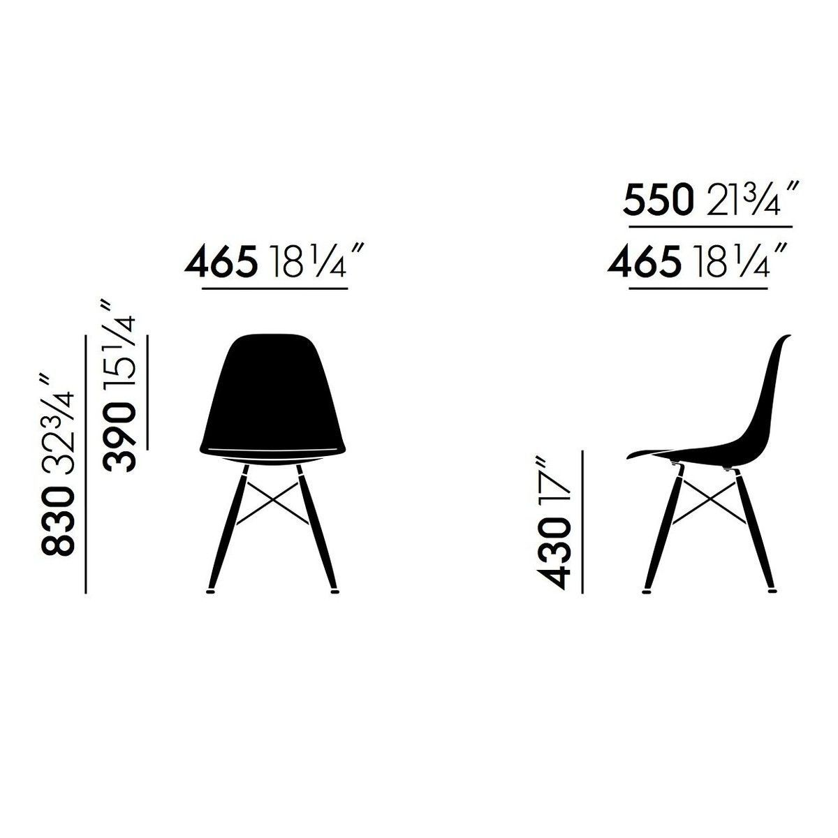 eames plastic side chair dsw stuhl h43cm vitra. Black Bedroom Furniture Sets. Home Design Ideas