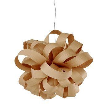 - Agatha Ball Pendelleuchte - buche/matt/L80 x B84 x H70cm/ohne Leuchtmittel/Dimmer