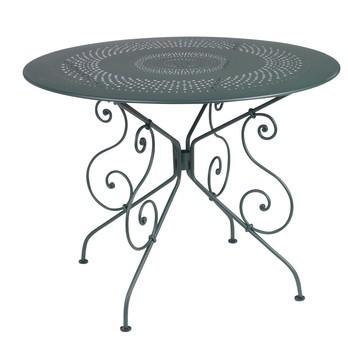 Fermob - 1900 Gartentisch - zederngrün/lackiert/mit Sonnenschirmloch/Ø96cm