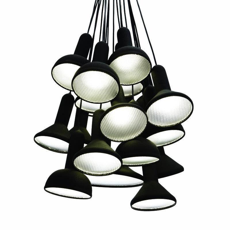 Established sons torch bunch s20 suspension lamp black ø 60cm black