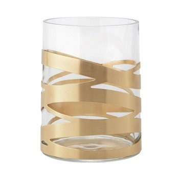 Stelton - Tangle Vase - glas/messing