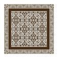 Moooi - Carpet Nr. 12 - Alfombra - marrón/blanco/250x250cm