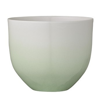 Bloomingville - Gradient Blumentopf - grün/innen weiß/Ø13xH10,8 cm