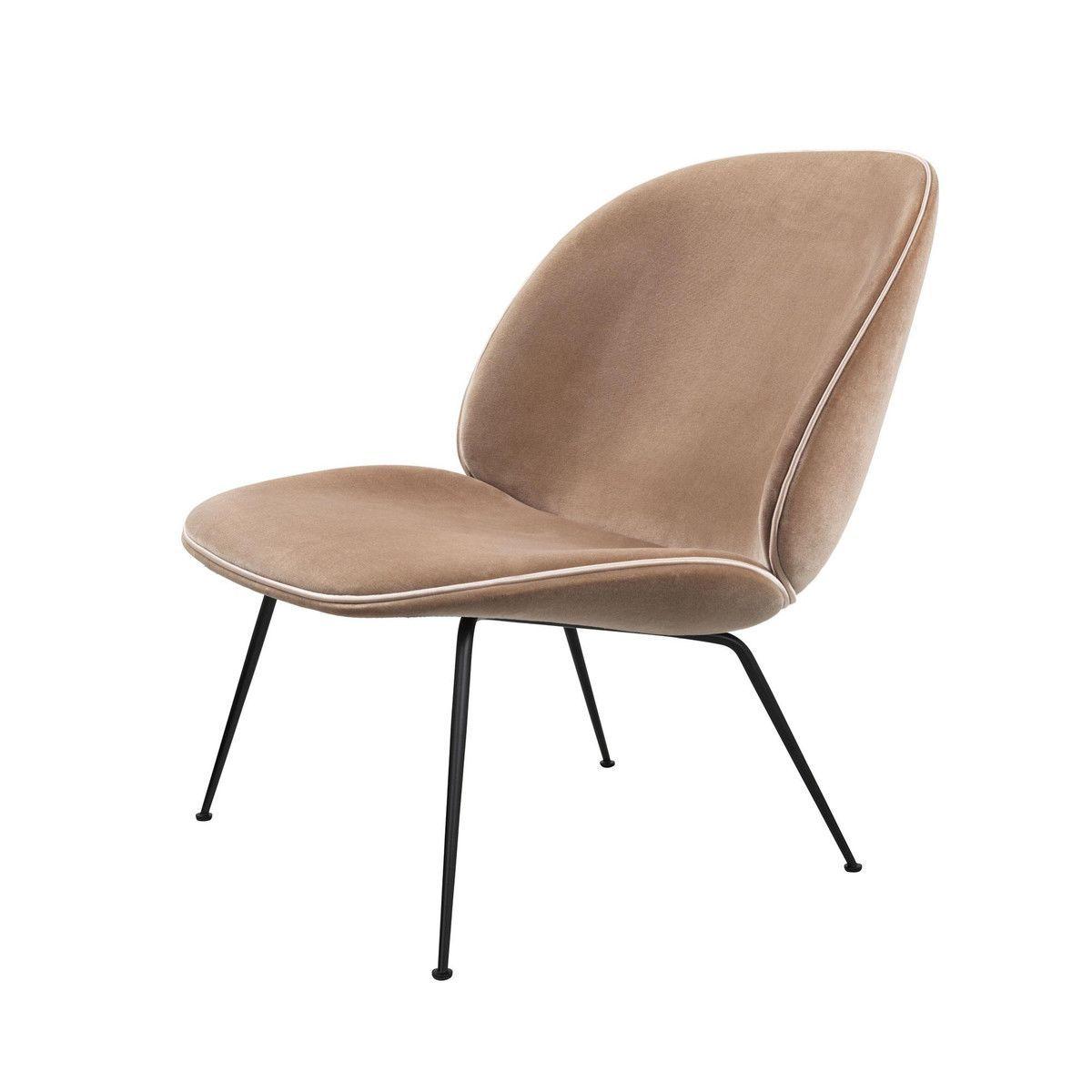 beetle lounge sessel samt gestell schwarz gubi. Black Bedroom Furniture Sets. Home Design Ideas