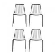 Pedrali - Nolita - Set de 4 chaises de jardin+coussins